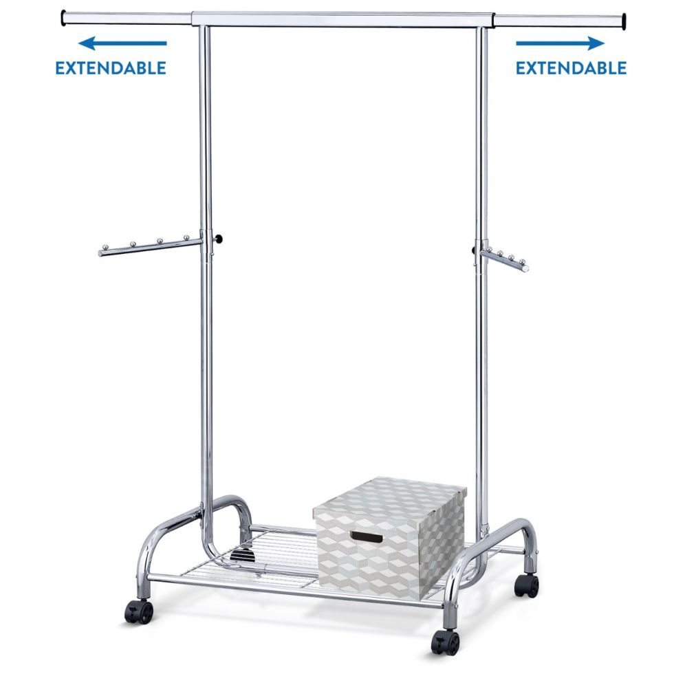 tatkraft bull heavy duty clothes rail with shoe rack