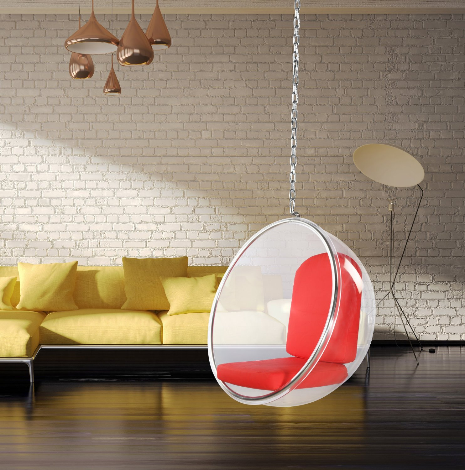 hanging ceiling chair padded folding chairs for sale bubble minimalistic style your home