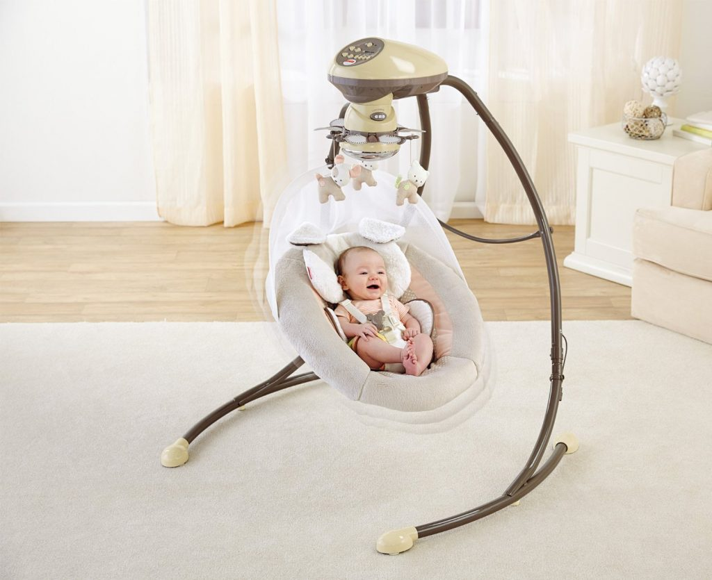 swing chair baby best purple cuddle for newborn reviews battery free