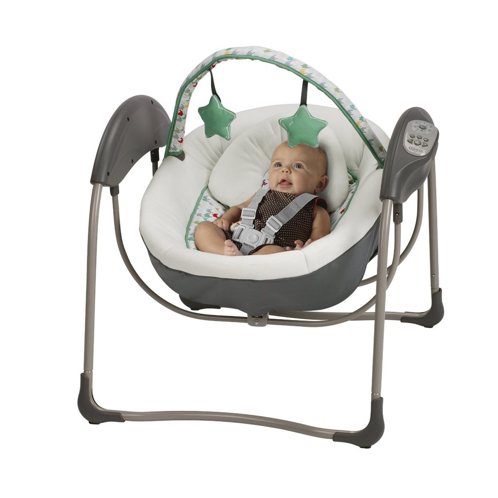 swing chair baby wicker dining chairs graco glider elite gliding