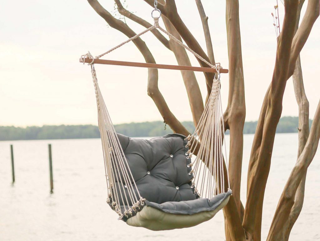 hanging chair mr price upholstered styles review tufted outdoor hammock by hatteras hammocks