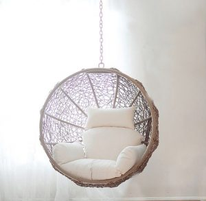hanging ceiling chair wearever hi back deluxe steel backpack zolo swing with stand by ceets the basket is made of synthetic rattan which makes this a perfect piece outdoor furniture as we decided to put it in our living room