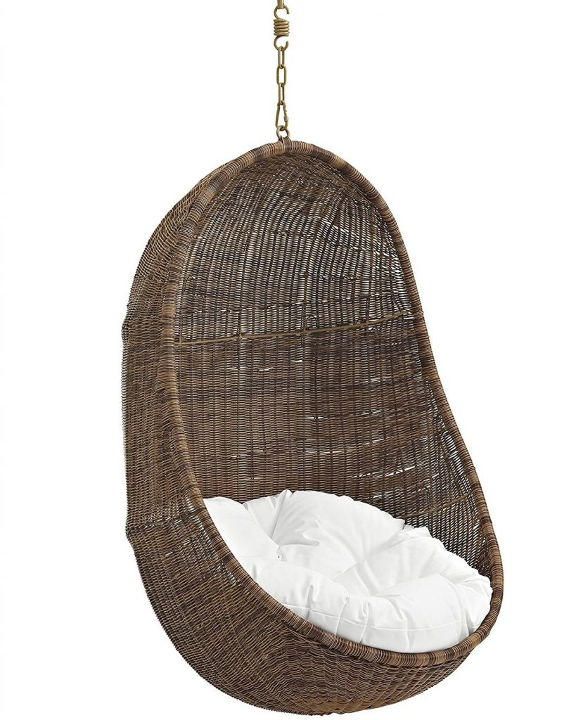 hanging rattan chair wicker arm chairs egg by nanna ditzel shaped prefect for indoor and outdoor