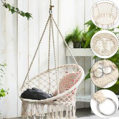 Hanging Chair Mr Price Kartell Mademoiselle Review Macrame Hammock Swing By Sorbus