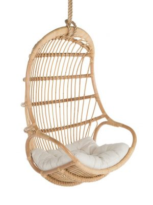 hanging wicker chair trailer hitch chairs review natural rattan swing by kouboo hand crafted from naturally grown