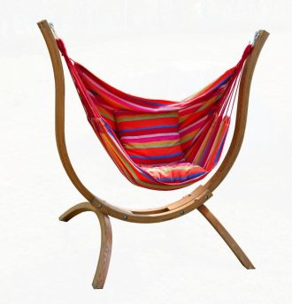 hammock chair with stand black wingback covers review the best stands comfortable and contemporary wood crescent arc