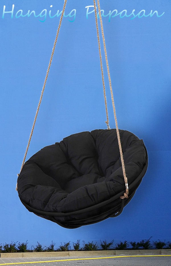 blackhangingpapasanchairblue  Hanging Chairs