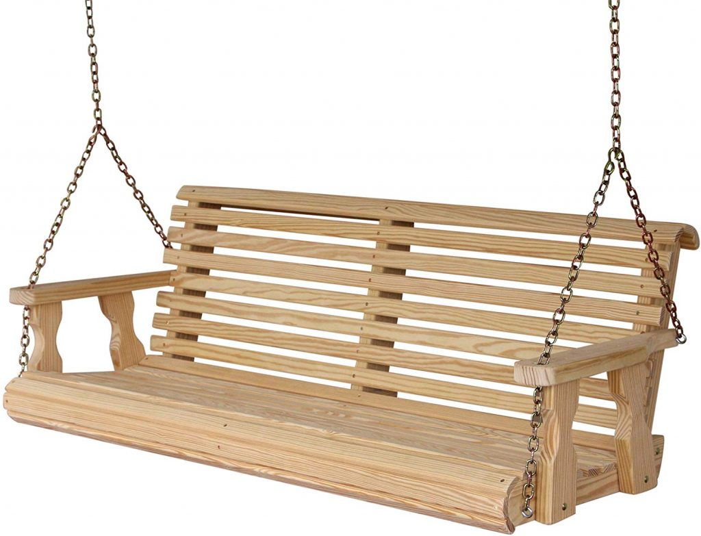 patio swing the favorite place for a