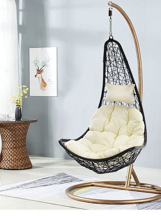 different types of hanging egg chairs