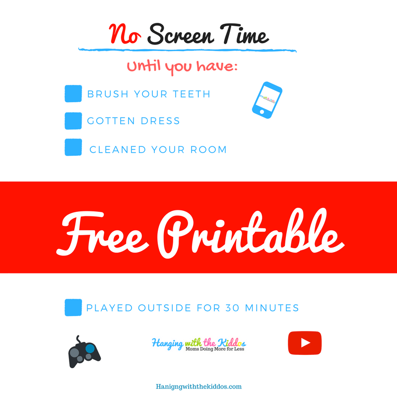 Summer Screen time Rules Free Printable