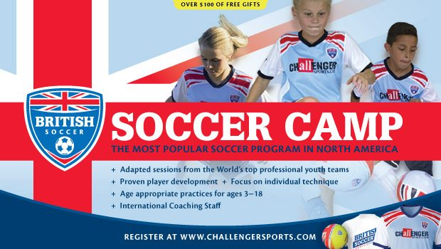 British Soccer Camps- GET A FREE JERSEY, BALL, T-SHIRT & NEW SKILLS APP AND 20 FREE VIDEOS!