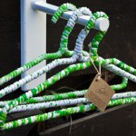 Green and White hangers