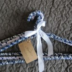 mixed blue and white hanger