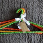 mixed red green and orange hangers