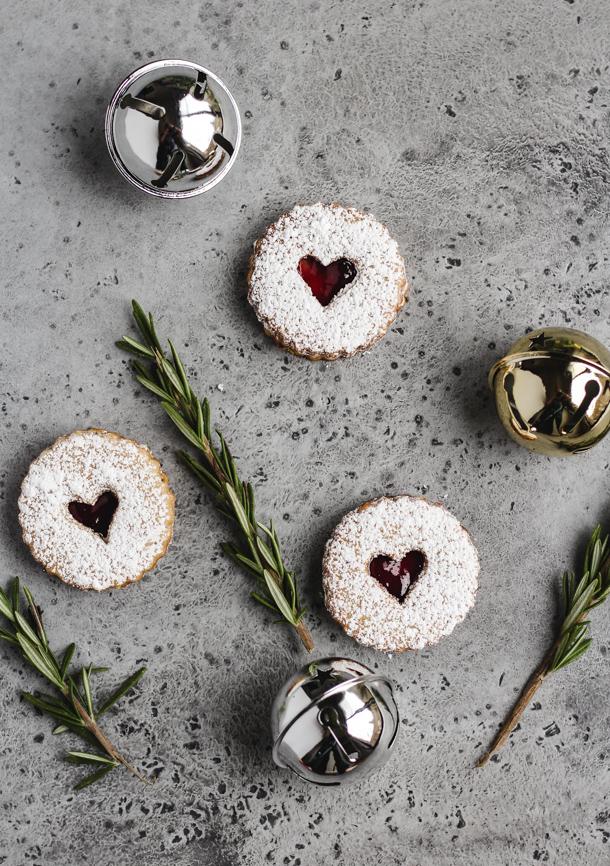 Rosemary Linzer Cookies