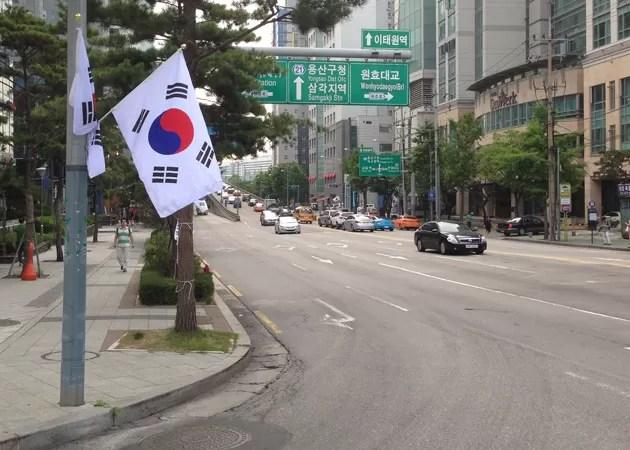 韓国の休日は国旗が掲げられる?