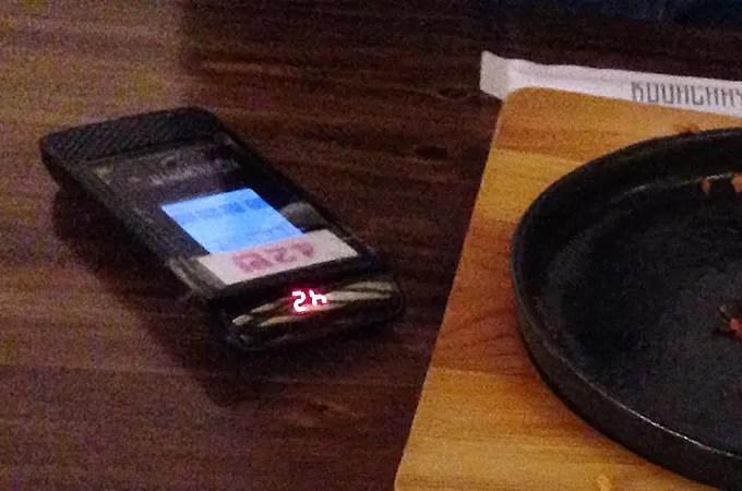 そしてお食事も、お飲み物も注文する際は、入店した際にもらえる番号を持って行きましょう。