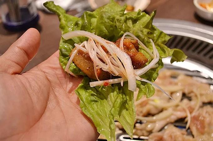 味付けは韓国ではあんまり食べたことがないような味でしたが、そもそも私プルコギを韓国であんまり食べてませんでした