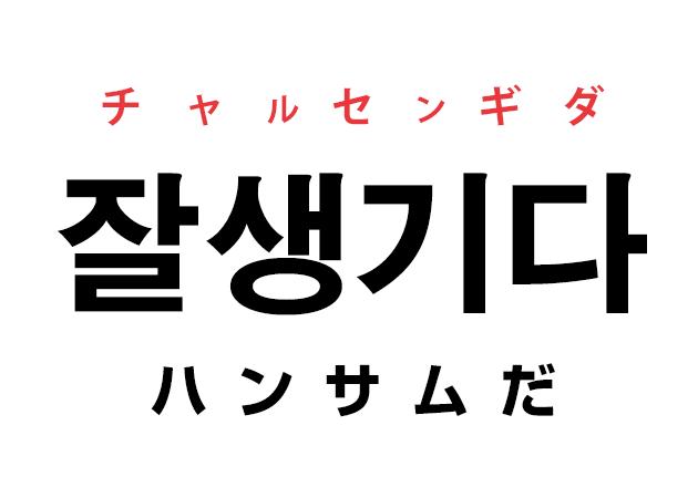 韓国語で「잘생기다 チャルセンギダ(ハンサムだ)」を覚える!
