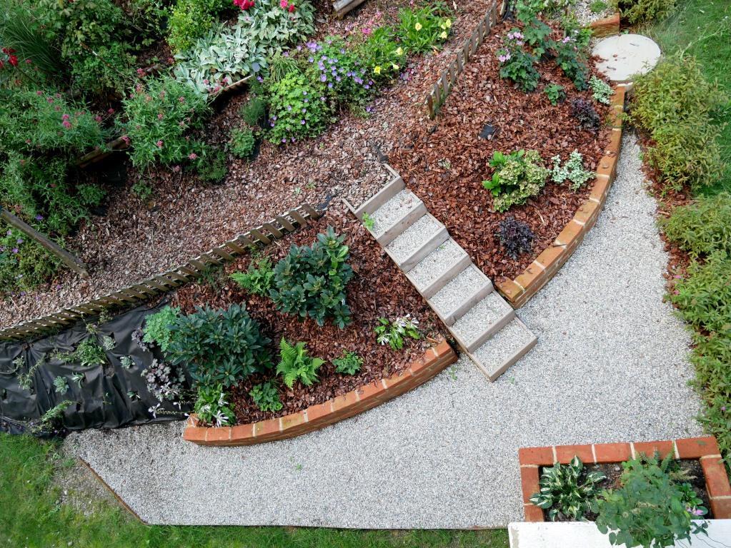 Der Hang zum Grünen Schattiger Gartenabschnitt in Hanglage