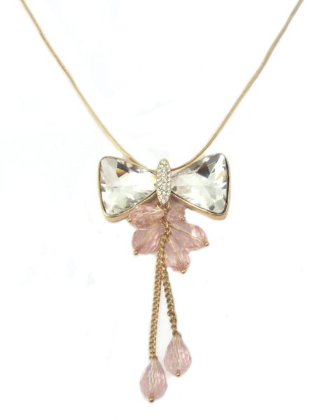 Bow Chain Necklace - Rose