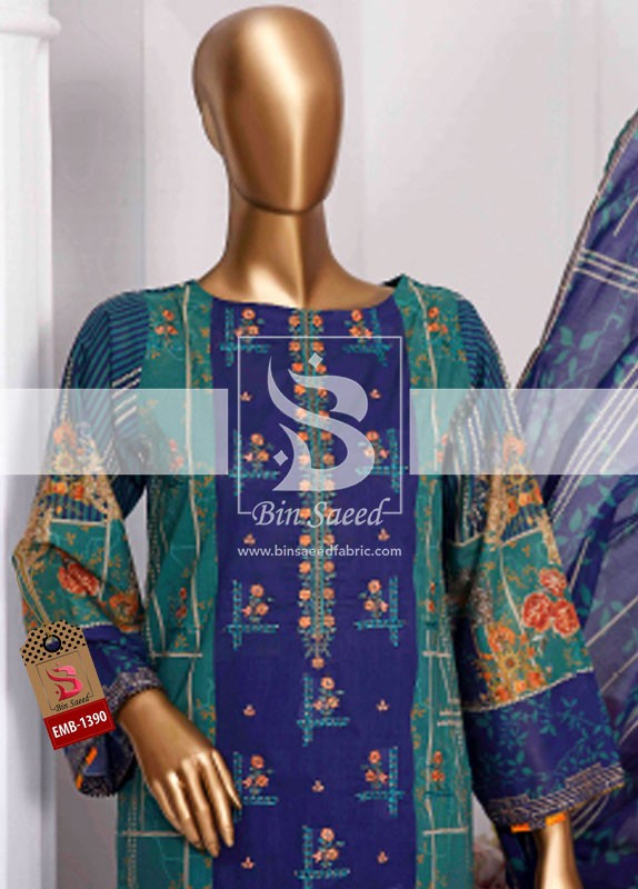 Summer Embroidered Lawn Collection Vol-1 EMB-1390 1