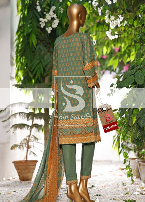 Summer Embroidered Lawn Collection Vol-1 EMB-1399 3