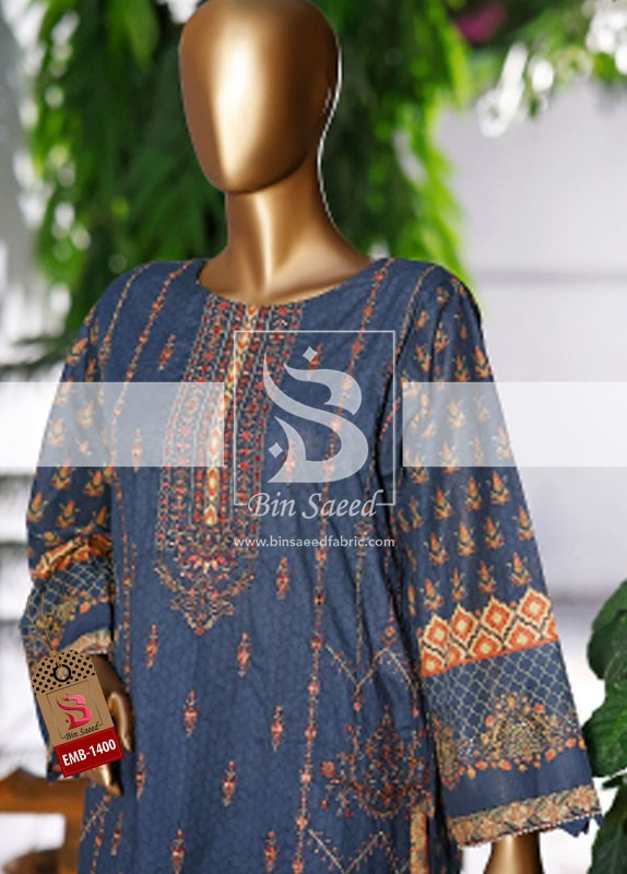 Summer Embroidered Lawn Collection Vol-1 EMB-1400 1