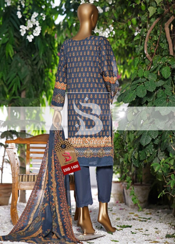 Summer Embroidered Lawn Collection Vol-1 EMB-1400 3