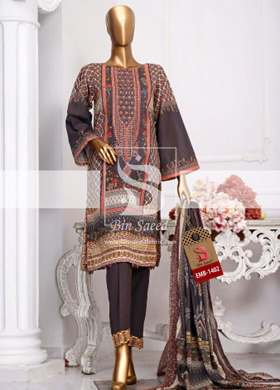 Summer Embroidered Lawn Collection Vol-1 EMB-1402 2
