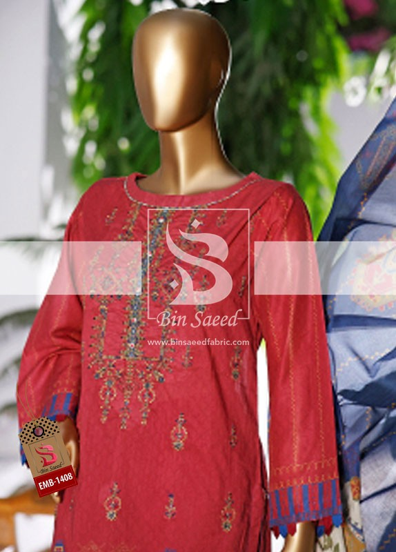 Summer Embroidered Lawn Collection Vol-1 EMB-1408 1