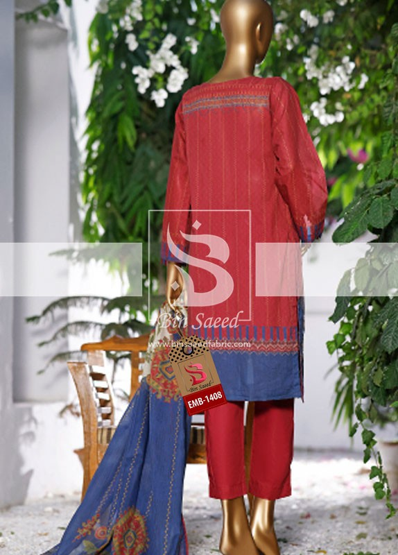 Summer Embroidered Lawn Collection Vol-1 EMB-1408 3