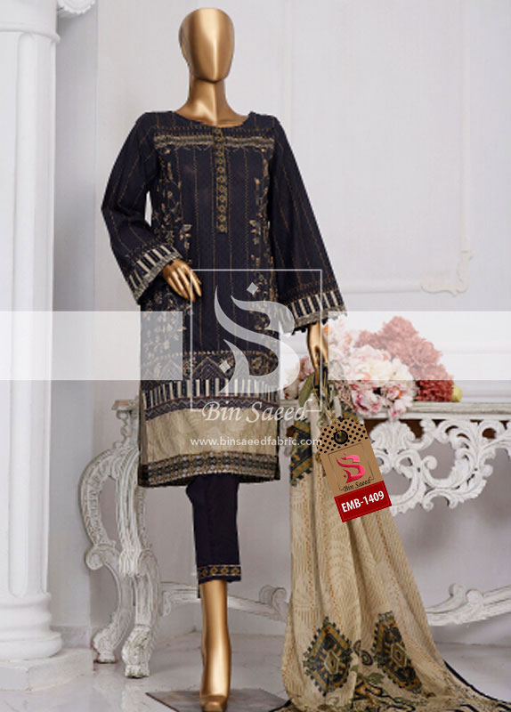 Summer Embroidered Lawn Collection Vol-1 EMB-1409 2