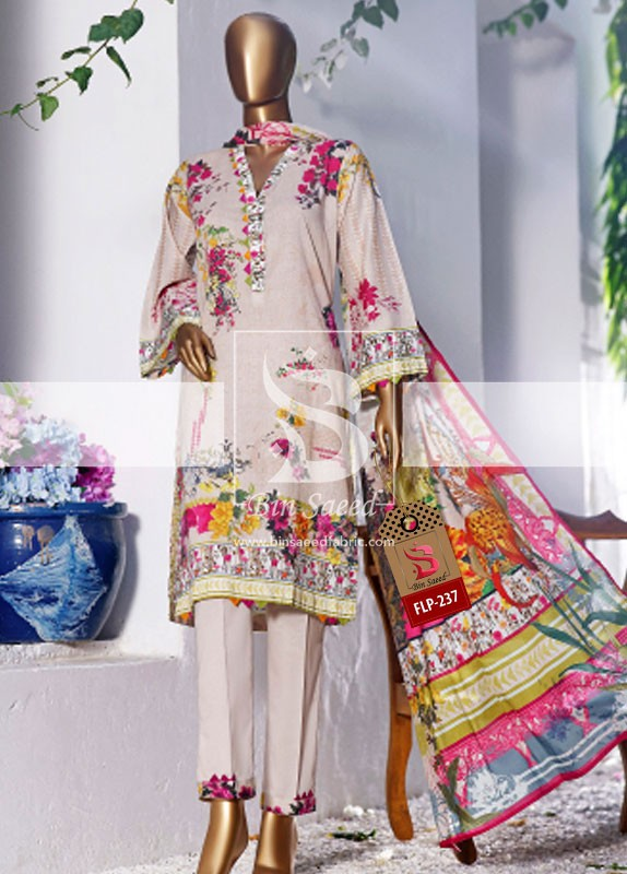 Summer Embroidered Lawn Collection Vol-1 FLP-237 2