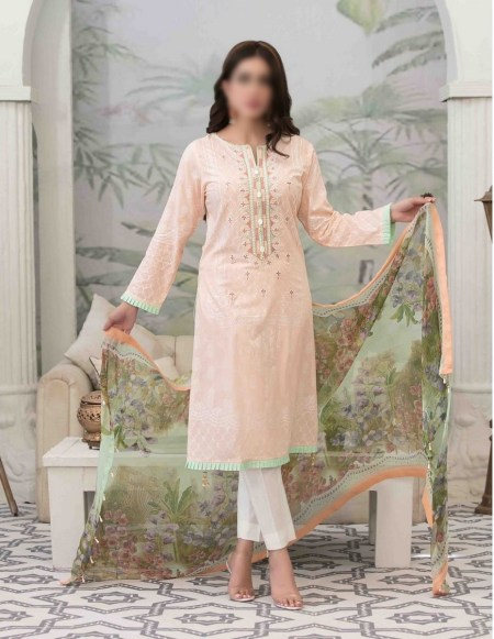 Summer Medley Lawn Printed And Embroidered Collection D-1472 B