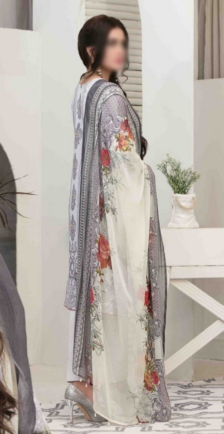 Summer Medley Lawn Printed And Embroidered Collection D-1476 B