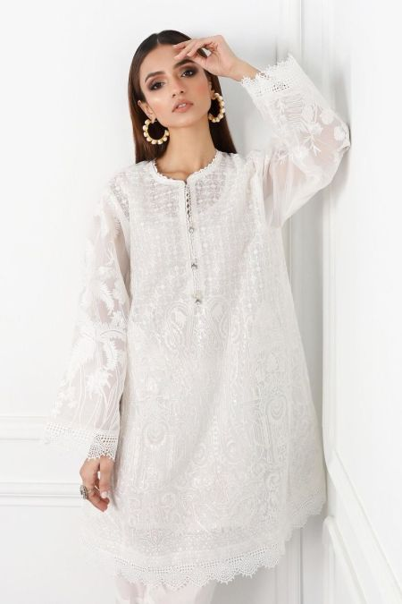 Embroidered Kurti Top SS20SGE152