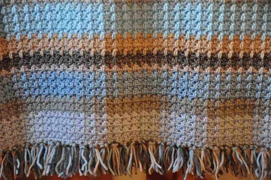 New Pattern: Henry\'s Waffle Crochet Blanket – HanJan Crochet