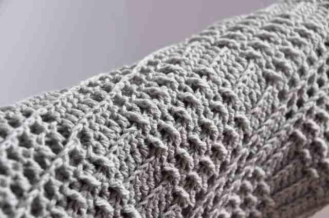 silver crochet blanket pattern detail Hannah Cross