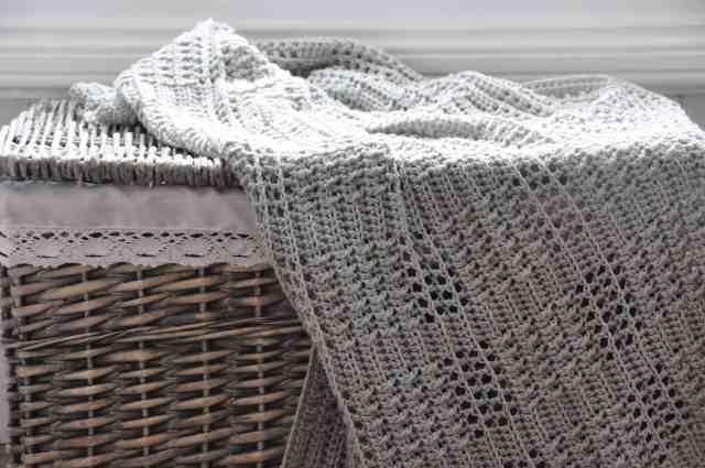 Silver Squares Blanket by Hannah Cross crochet pattern