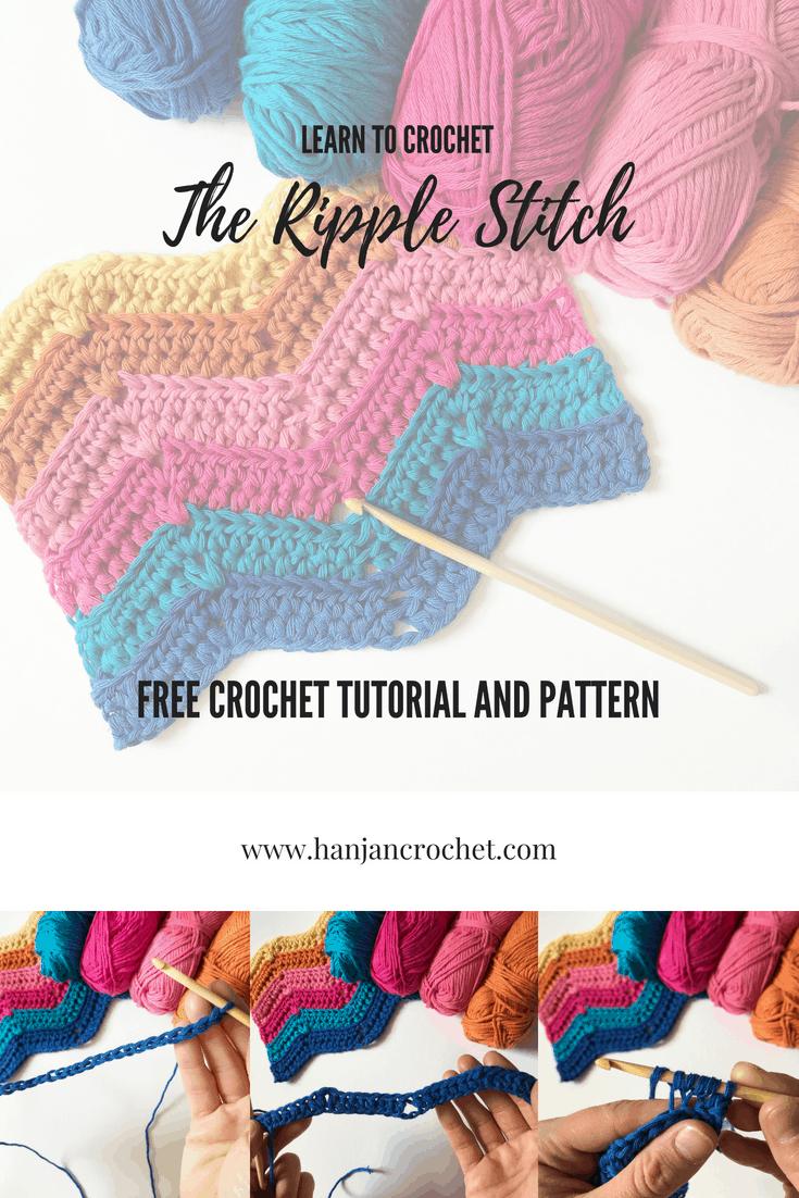 The Ripple Stitch Blanket Free Crochet Pattern Hanjan Crochet