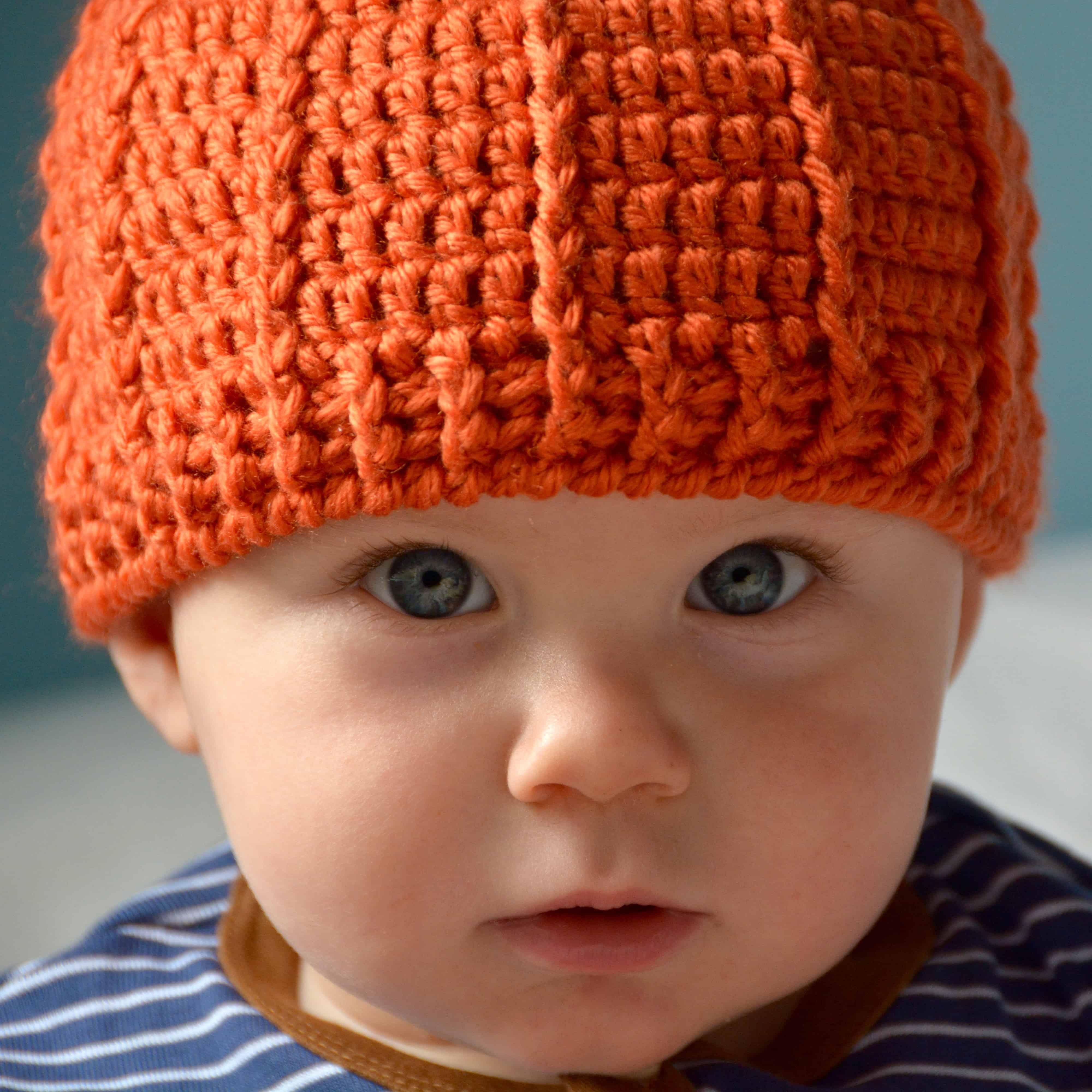 pumpkin beanie hat free crochet pattern