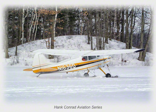 Cessna 170 on Skis