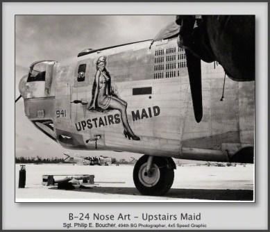 B-24 Nose Art - Upstairs Maid