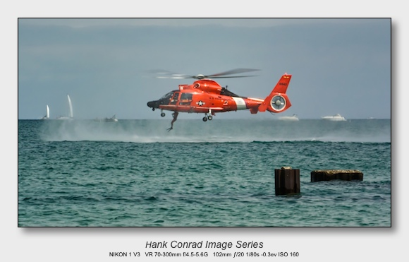 Nikon 1 V3 for Aviation | U.S. Coast Guard MH-65 Dolphin Rescue Helicopter
