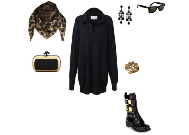 hanleymellon_dress_look_louis_vuitton_margiela_zanotti_rayban