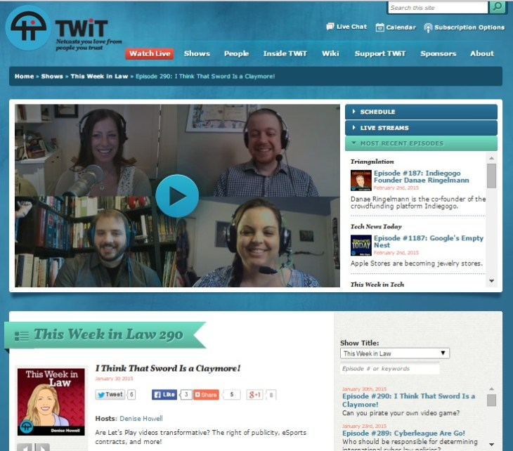 twil 290 home page