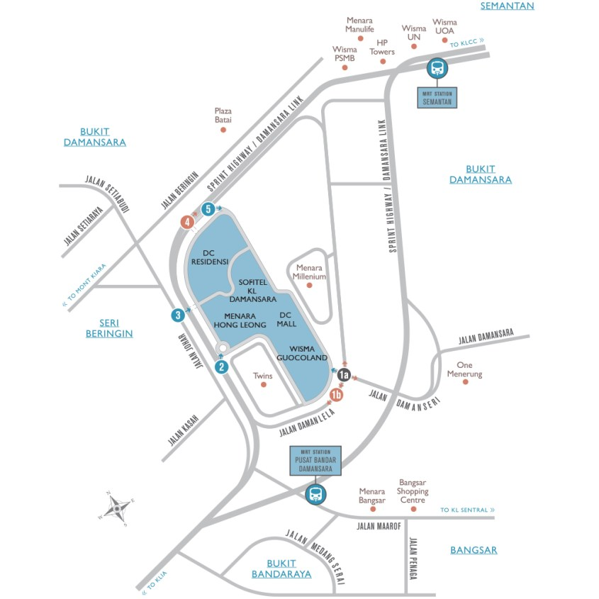location map 1240 width 1024x1024 01 - Discover and Experience the Pinnacle of Luxury |DC RESIDENSI, Damansara Heights |