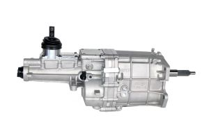 Big Power, Tremec, TKX Transmission, 600 lb.-ft. torque capacity, high rev, engines speeds of 8,000 RPMs, shifts at 7,500 RPMs, Input Shaft – 26 Spline, Output Shaft – 31 Spline, Lightweight, 99 lbs dry, Designed multiple applications, three shifter locations, Compact end-loaded design, clearance in transmission tunnels, without floor modifications, Increased case strength, three-piece construction, aluminum housing, provides outstanding structural stiffness, Gaskets at all flanges, simple installation, eliminates fluid leaks, Superior shift-ability, multi-cone synchronizers, hybrid synchronizer rings made tough, sintered bronze gears, carbon gears, shafts hardened, special grade steel, ASTM 4615, increased torque carrying capacity, specially equipped, high-performance, short-throw, billet aluminum shifter, isolates road noise, clean fitment, lightened case, crisp shifts, Robust design, internal (3) three-rail shift system, steel shift forks. Gear Ratios 1st Gear 2.87 2nd Gear 1.89 3rd Gear 1.28 4th Gear 1.00 5th Gear 0.81