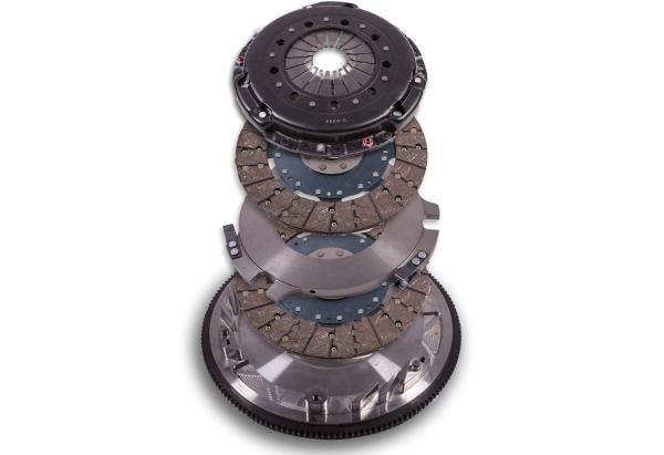 hms, hanlon motorsports,Vengeance Competition Clutch, Organic Twin Disc, Clutch Kit 1097/s550, 2011 2020, GT Mustangs, MT-82 Transmission, 23-spline input shaft, 2011 2020 Mustang GT, MT-82 Transmission, Disc Dimensions 9-1/2″ WIDE x 3/8″ THICK, 23 Spline, 8-Bolt 1045 Billet Steel Flywheel, Wheel Torque Rating 750, 750 WTQ, Pressure plate, two clutch disc, floater plate, 0oz flywheel, ARP flywheel bolts, Pilot tool, instructions